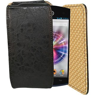 Totta Pouch For Micromax Canvas Fire 3 (Black)