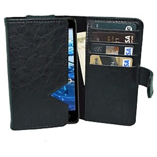 Totta Wallet Case Cover For Fly Snap (Black)
