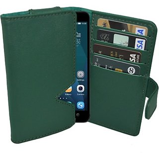 Totta Wallet Case Cover For Huawei Ascend G700 (Green)
