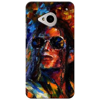 SaleDart Designer Mobile Back Cover for HTC One M7 HTCM7KAA473