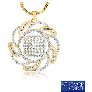 2.17ct Natural White Diamond Studded Pendant 14K Hallmarked Gold Pendant P-0115G