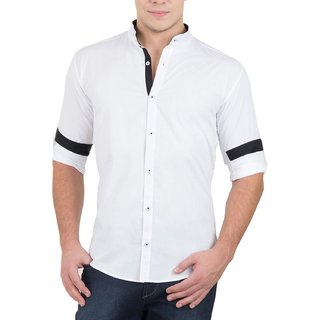 mens fashion  Cotton Stand Collar Casual Shirt