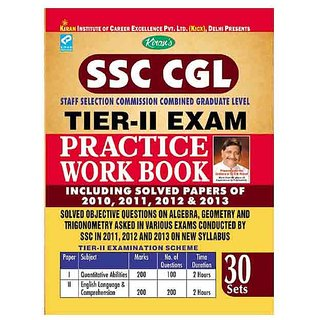 SSC CGL Staff Selection Commission Combined TIER-II Exam Practice Work Book Including Solved Papers of 2010, 2011, 2012