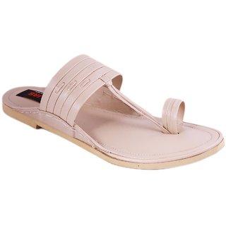 Balujas Mens Cream Slip On Sandals