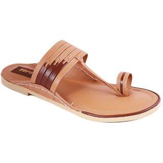 Balujas Mens Tan Slip On Sandals