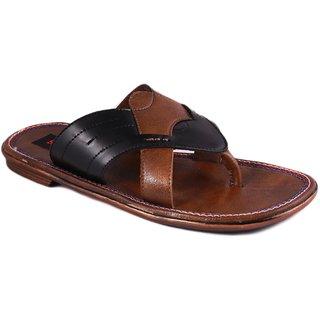 Balujas Mens Black Slip On Sandals