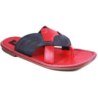 Balujas Mens Red Slip On Sandals