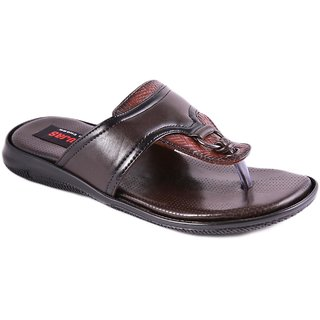 Balujas Mens Brown Slip On Sandals