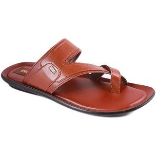Balujas Mens Tan Slip On Sandals