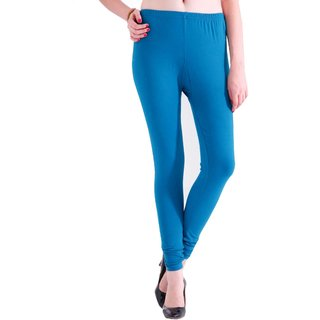 Samruddhis Cotton Made Women Leggings-Blue Colour