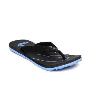 2075461adc1f Buy Puma Colaba Men s Black and Blue Flip Flops Online   ₹699 from ...