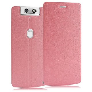 Heartly Premium Luxury PU Leather Flip Stand Back Case Cover For Oppo N3 Dual Sim - Cute Pink