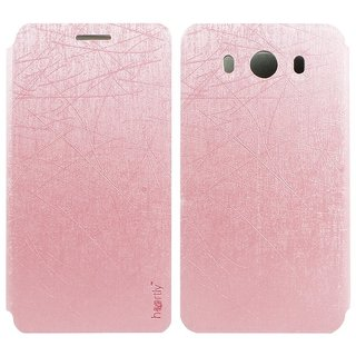 Heartly Premium Luxury PU Leather Flip Stand Back Case Cover For ZTE Grand S3 Dual Sim