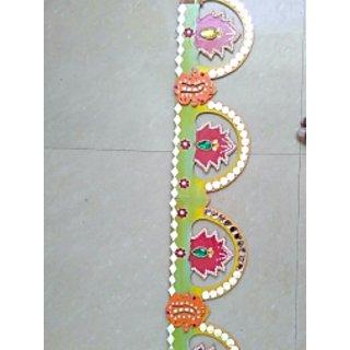 bhavya handicraft wooden toran 90cm.