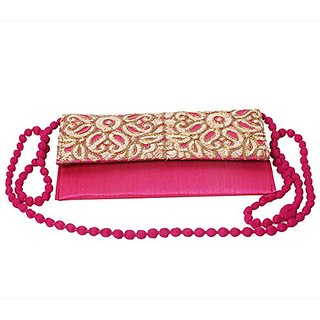 Traditional Indian Womens Clutch Pink