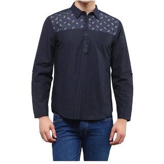 ANANDAN STORE Mens Cotton waist long kurta dark blue colour