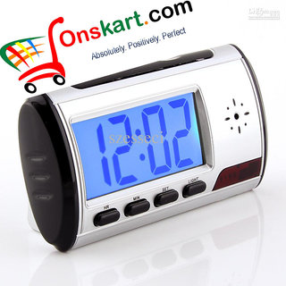Ons Group Spy Table Clock Camera With Remote