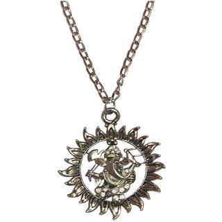 Men Style Best Selling Shri Ganesh  Silver  Alloy Sun Shape Pendent For Men And Women