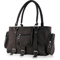 Chhavi Black Pu Casual Plain Handbag