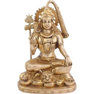 e23f35503a7ca Buy Arihant Craft Hindu God Shiva Idol Bhole baba statue Lord Mahadev  Sculpture Hand Work Showpiece 24.5 cm (Brass