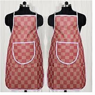 laura Non-woven Multicolor Checkered Waterproof Aprons (Set Of 2)