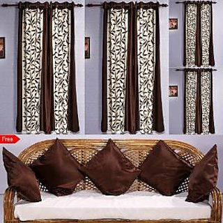 Amaroverseas Door Curtain Set of 8 With 5 Cushion cover
