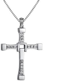 Caratcube Silver Plated Silver Alloy Pendant With Chain Only for Women