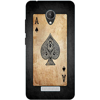 HI5OUTLET Premium Quality Printed Back Case Cover For Micromax Canvas Spark Q380 Design 1