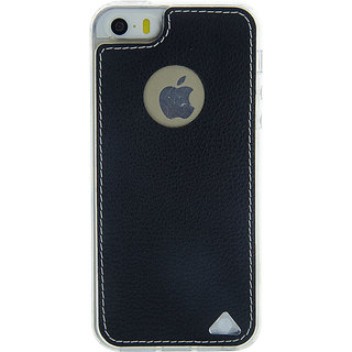 Stuffcool Levog Soft  Leather Back Case Cover for  iPhone 5 / 5S / SE - Black