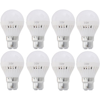 JOY 9W 2pcs, 7W 2pcs and 5W 4pcs Energy saving LED Bulb (Bright White Light, Price saver Pack Of 8)