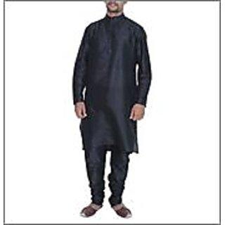 Arose Fashion  Black Silk Kurta Pajama Set