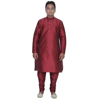 Arose Fashion Mehroon Silk Kurta Pajama Set