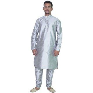 Arose Fashion Grey Silk Kurta Pajama Set