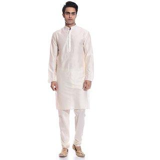 Arose Fashion Off-White Silk Kurta Pajama Set