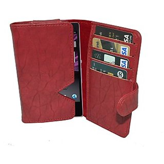 Totta Wallet Case Cover For Infocus M2 (Red)
