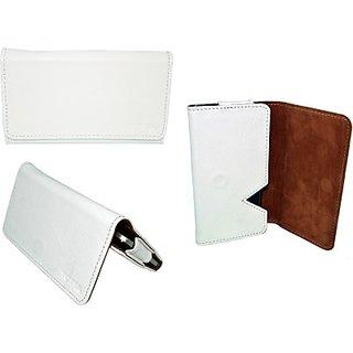 Totta Wallet Case Cover For Karbonn Titanium S205 (White)
