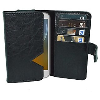 Totta Wallet Case Cover For Karbonn A11 Plus (Black)