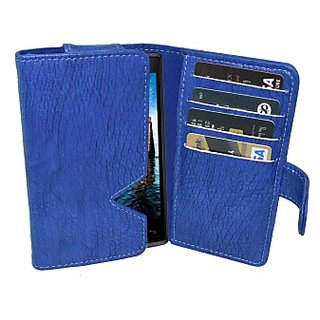 Totta Wallet Case Cover For Lava Iris 500 (Blue)