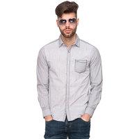 Mufti Men's Grey Slim Fit Casual Shirt