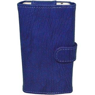 Totta Wallet Case Cover For Lava Iris X5 4G (Blue)
