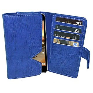 Totta Wallet Case Cover For Karbonn Titanium Octane (Blue)