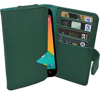 Totta Wallet Case Cover For Karbonn Titanium Octane (Green)