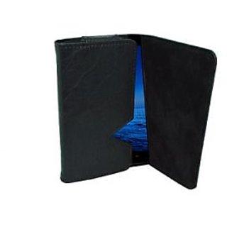 Totta Wallet Case Cover For Spice Mi-504 Smart Flo Mettle 5X (Black)