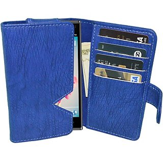 Totta Wallet Case Cover For Xolo Black (Blue)