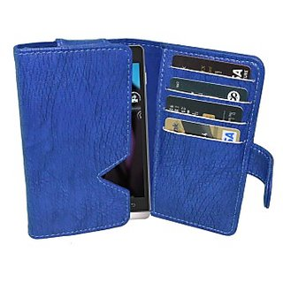 Totta Wallet Case Cover For Xolo Q500S Ips (Blue)