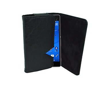 Totta Wallet Case Cover For Sony Xperia P (Black)