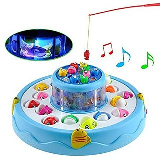 Fishing Electronic Double-layer Rotating Fishing Toy Set