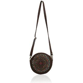 Round Sling Cross Bag Chakra Print