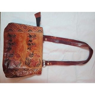 Womens Handbag (Black) (Handicraft)
