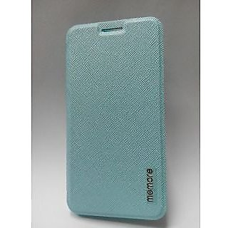 Leather flip Cover Silicone Back Case For Samsung Galaxy Alpha - blue